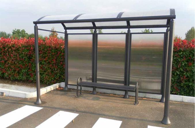 Trafik och milj innovationer busskurer v derskydd for Helios arredo urbano